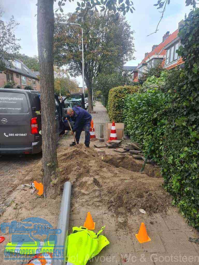 Graven riool Dordrecht